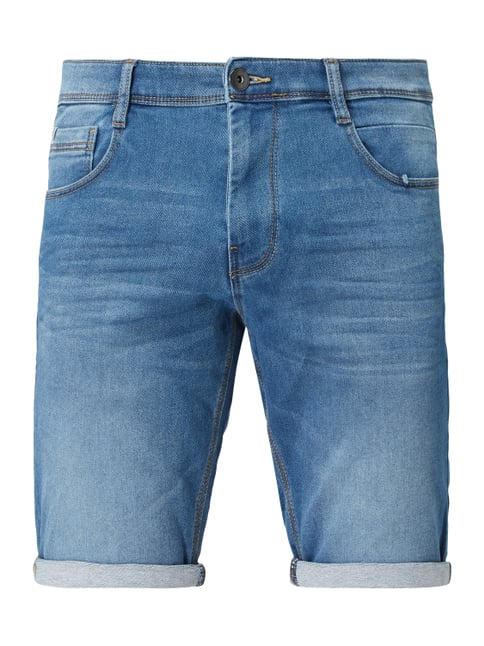 003a169eeaa685 Tom Tailor Stone Washed Regular Slim Fit Jeansshorts Blau - 1 ...