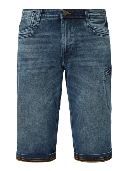 Tom Tailor Stone Washed Relaxed Fit Jeansbermudas Blau - 1