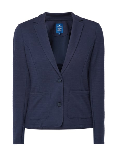 tom tailor sweatblazer mit aufgesetzten taschen in blau t rkis online kaufen 9770416 p c. Black Bedroom Furniture Sets. Home Design Ideas