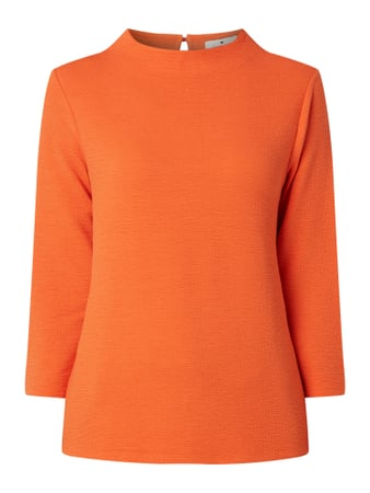 Tom Tailor Sweatshirt mit feiner Struktur Orange - 1