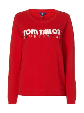 Sweatshirt mit Logo-Stickerei Rot - 1