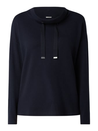 Tom Tailor Sweatshirt mit Tube Collar Blau - 1