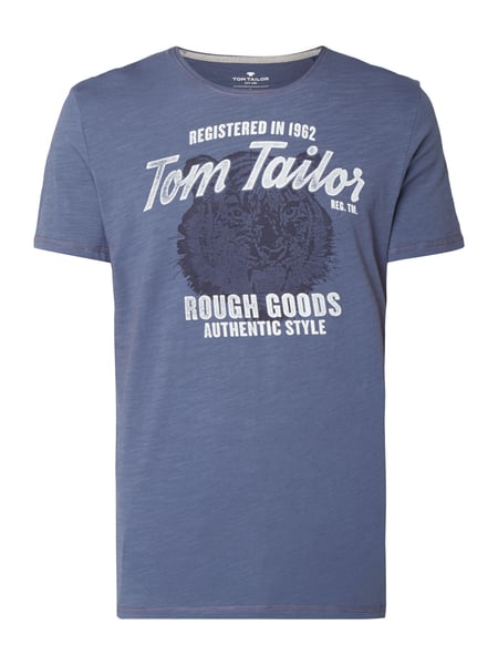Tom Tailor T-Shirt mit Logo-Print im Vintage Look Anthrazit