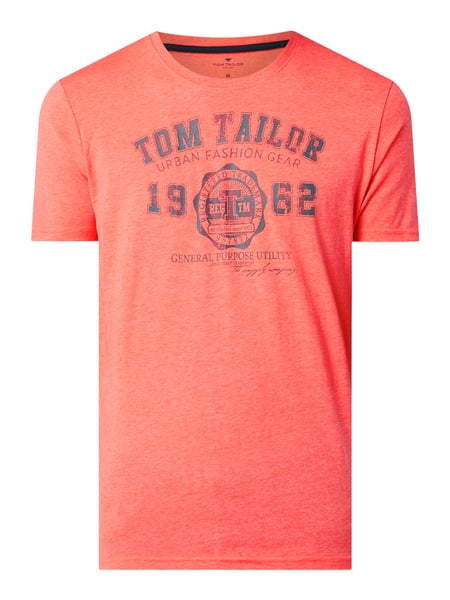 Tom Tailor T-Shirt mit Logo-Print Rosa - 1