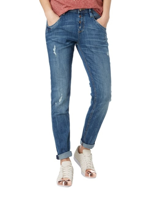 Tom Tailor Tapered Fit Jeans im Used Look Jeans - 1