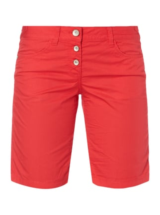 Tapered Relaxed Fit Bermudas mit Knopfleiste Rot - 1