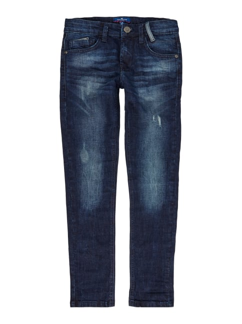 Used Slim Fit Jeans mit Stretch-Anteil Blau / Türkis - 1