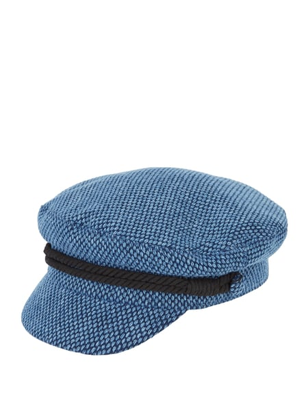 Tommy Hilfiger Baker Boy Hat aus Tweed Blau - 1