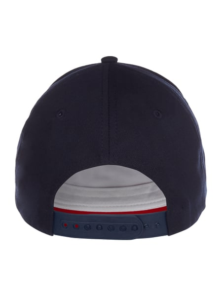 tommy hilfiger basecap mit logo flockprint in blau. Black Bedroom Furniture Sets. Home Design Ideas