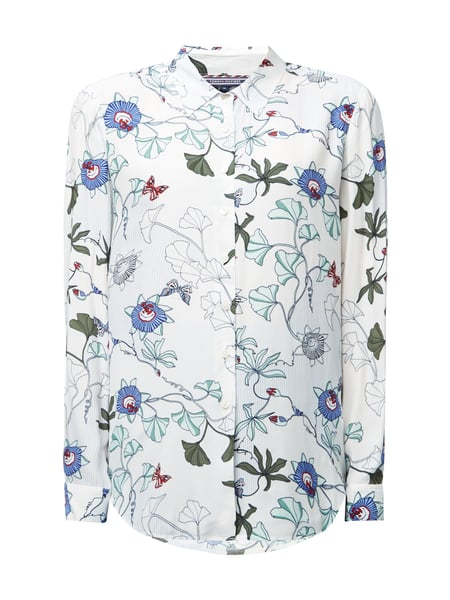 Tommy Hilfiger Bluse mit floralem Muster Offwhite