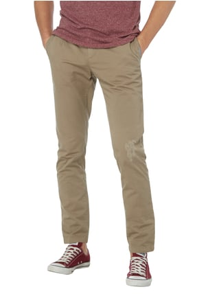 Tommy Hilfiger Chino im Destroyed Look Sand - 1