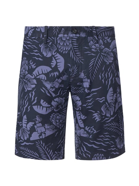 Tommy Hilfiger Chino-Shorts mit Allover-Muster Modell 'Brooklyn' Blau - 1