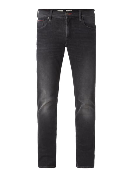 Tommy Hilfiger Coloured Straight Fit Jeans Schwarz