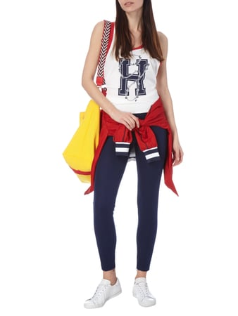 Tommy Hilfiger Cotton-Mix Treggings Gigi Hadid in Grau / Schwarz - 1