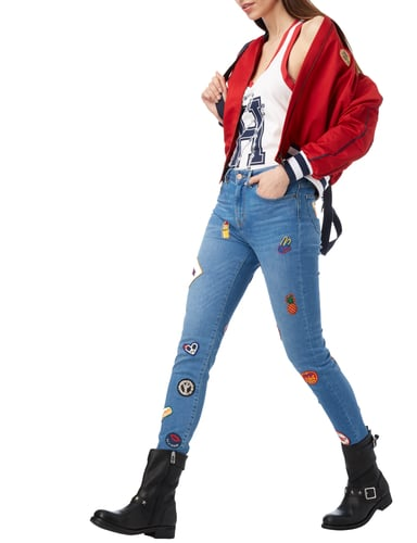 Tommy Hilfiger Cropped Bomber Gigi Hadid in Rot - 1