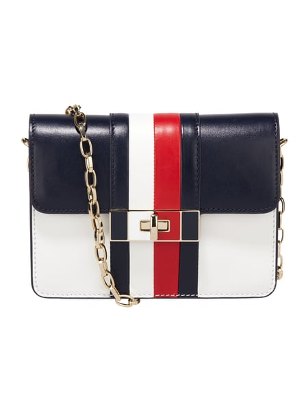 Tommy Hilfiger Corporate Lock - Crossbody Bag aus echtem Leder Marineblau