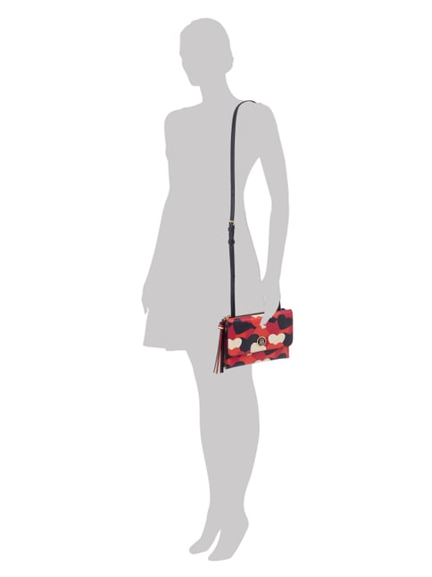 Tommy Hilfiger Crossbody Bag mit Herzmuster in Rot - 1