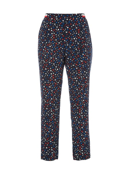 Tommy Hilfiger Josie Pant 44005 - Easy Pants mit Sternenmuster Dunkelblau