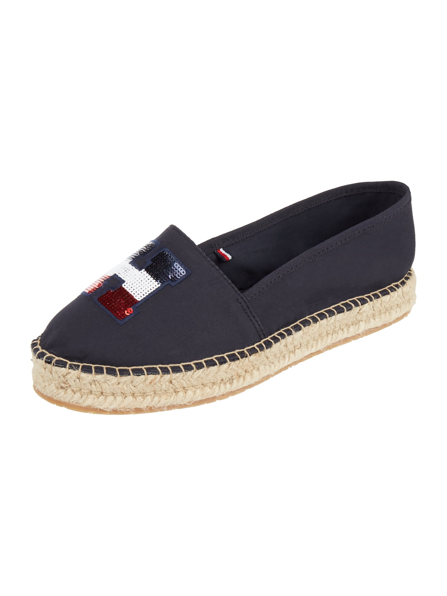 tommy hilfiger espadrilles mit pailletten besatz in blau. Black Bedroom Furniture Sets. Home Design Ideas