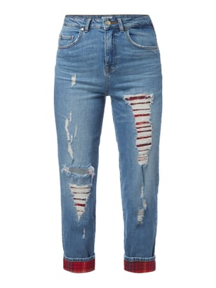 High Waist Destroyed Jeans Gigi Hadid Blau / Türkis - 1