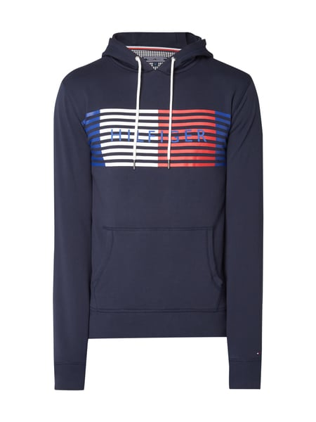 tommy hilfiger hoodie mit gro em logo print in blau t rkis online kaufen 9769807 p c online shop. Black Bedroom Furniture Sets. Home Design Ideas