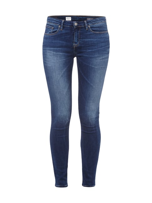Jegging Fit Jeans im Stone Washed-Look Blau / Türkis - 1