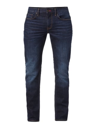Light Stone Washed Straight Fit Jeans Blau / Türkis - 1