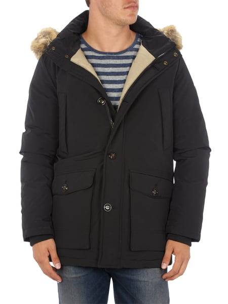 tommy hilfiger parka mit daunen federn f llung in grau schwarz online kaufen 9333503 p c. Black Bedroom Furniture Sets. Home Design Ideas