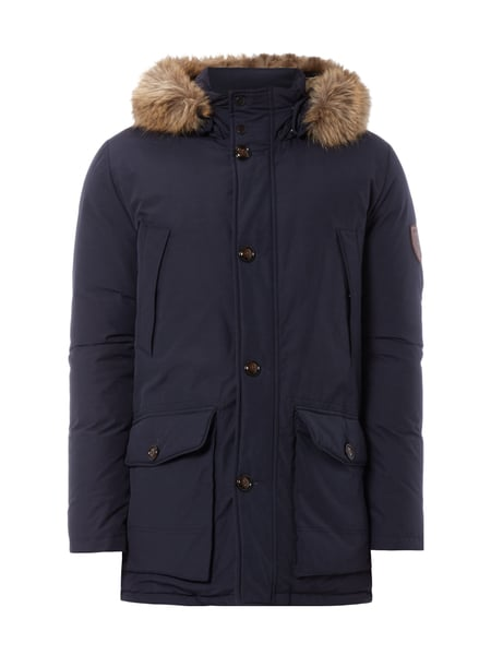 tommy hilfiger parka mit kapuze und daunen federn f llung in blau t rkis online kaufen. Black Bedroom Furniture Sets. Home Design Ideas