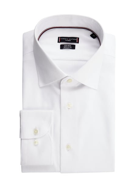 Tommy Hilfiger Regular Fit Business-Hemd - 'Better Cotton Initiative' Weiß - 1