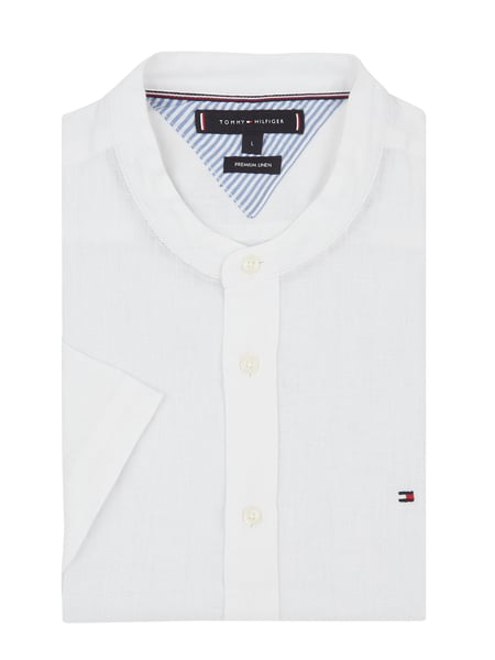 Tommy Hilfiger Regular fit linnen overhemd Wit - 1