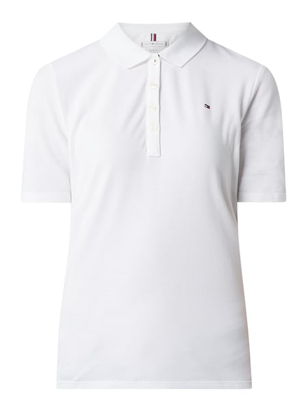Tommy Hilfiger Regular fit poloshirt met logodetails Wit - 1