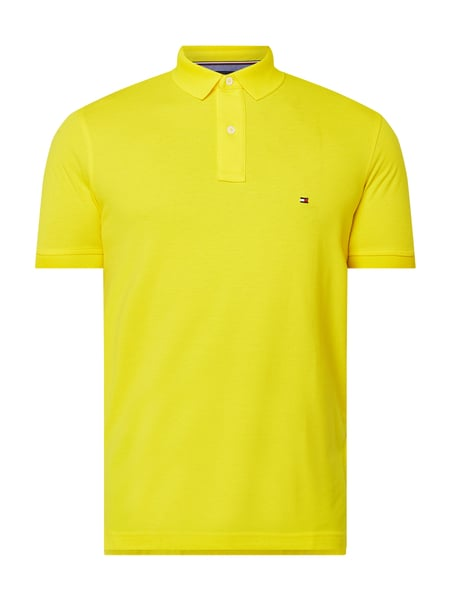 Tommy Hilfiger Regular Fit Poloshirt mit Logo-Stickerei Gelb - 1