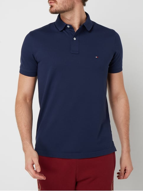 ... Tommy Hilfiger Regular Fit Poloshirt mit Logo-Stickerei Marineblau - 1 8607af21d4