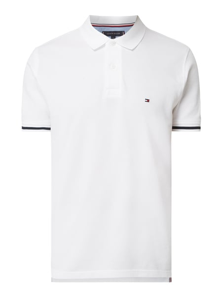Tommy Hilfiger Regular Fit Poloshirt mit Logo-Stickerei Weiß - 1