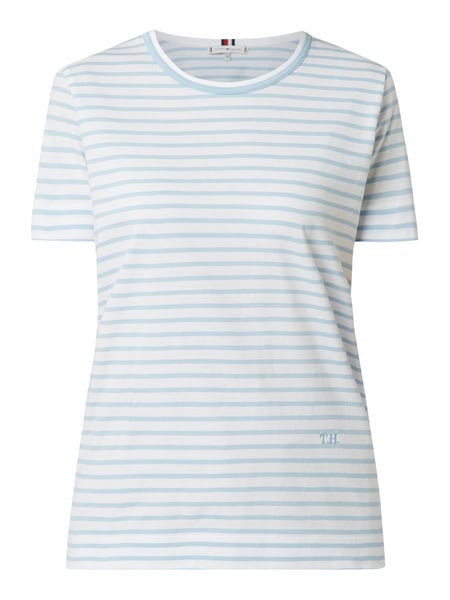Tommy Hilfiger Relaxed Fit T-Shirt aus Organic Cotton Blau - 1