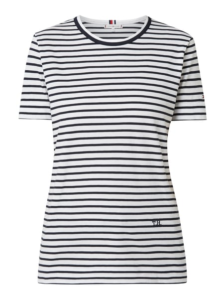 Tommy Hilfiger Relaxed Fit T-Shirt aus Organic Cotton Blau / Türkis - 1