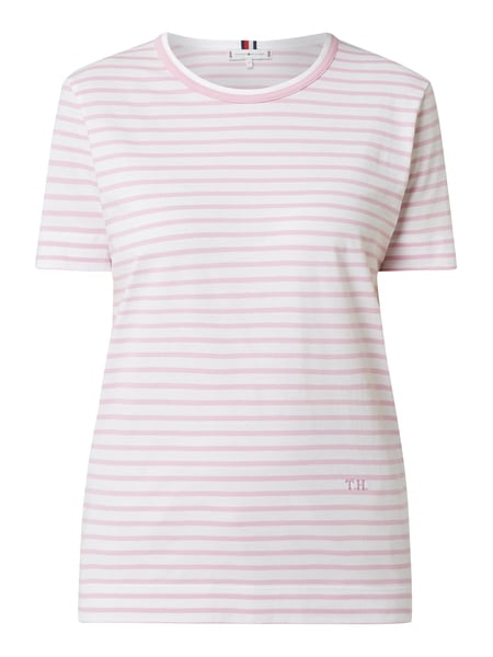 Tommy Hilfiger Relaxed Fit T-Shirt aus Organic Cotton Rosé - 1