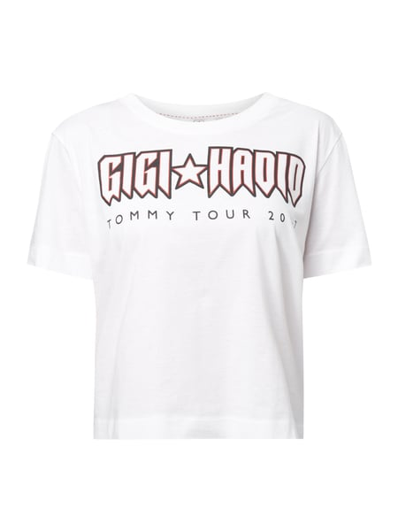 Rock Tour Crop Tee Gigi Hadid Weiß - 1