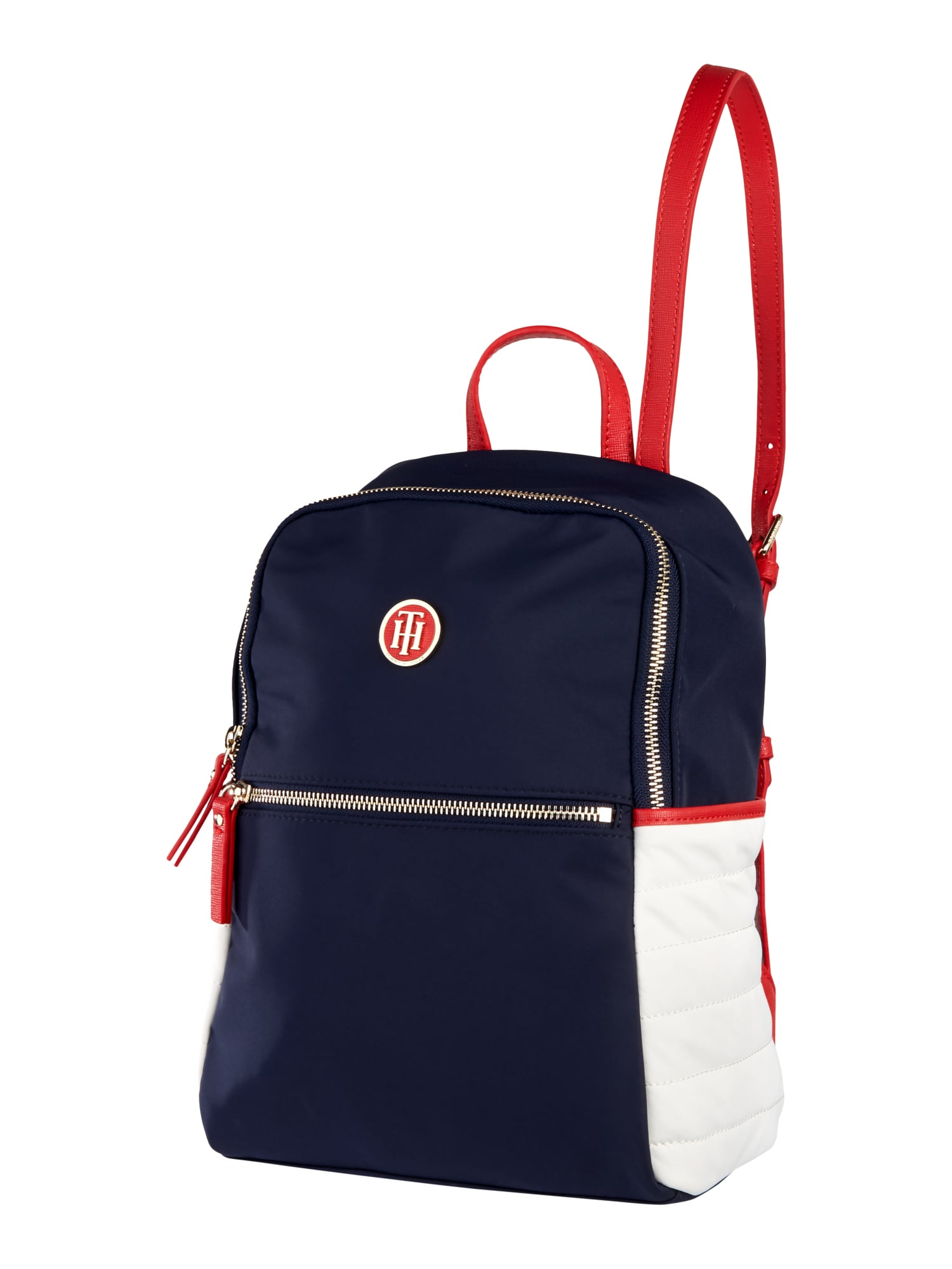 tommy hilfiger rucksack mit frontfach in blau t rkis. Black Bedroom Furniture Sets. Home Design Ideas