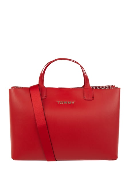 Tommy Hilfiger Shopper in Leder-Optik Rot - 1