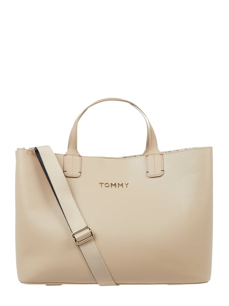 Tommy Hilfiger Shopper in Leder-Optik Beige - 1