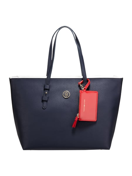 Tommy Hilfiger Th Signature Tot - Shopper mit Saffiano-Struktur Marineblau