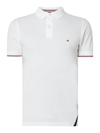 Tommy Hilfiger Slim Fit Poloshirt - 'Better Cotton Initiative' Weiß - 1