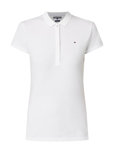 Slim Fit Poloshirt 'NEW CHIARA POLO' mit Stretch Anteil
