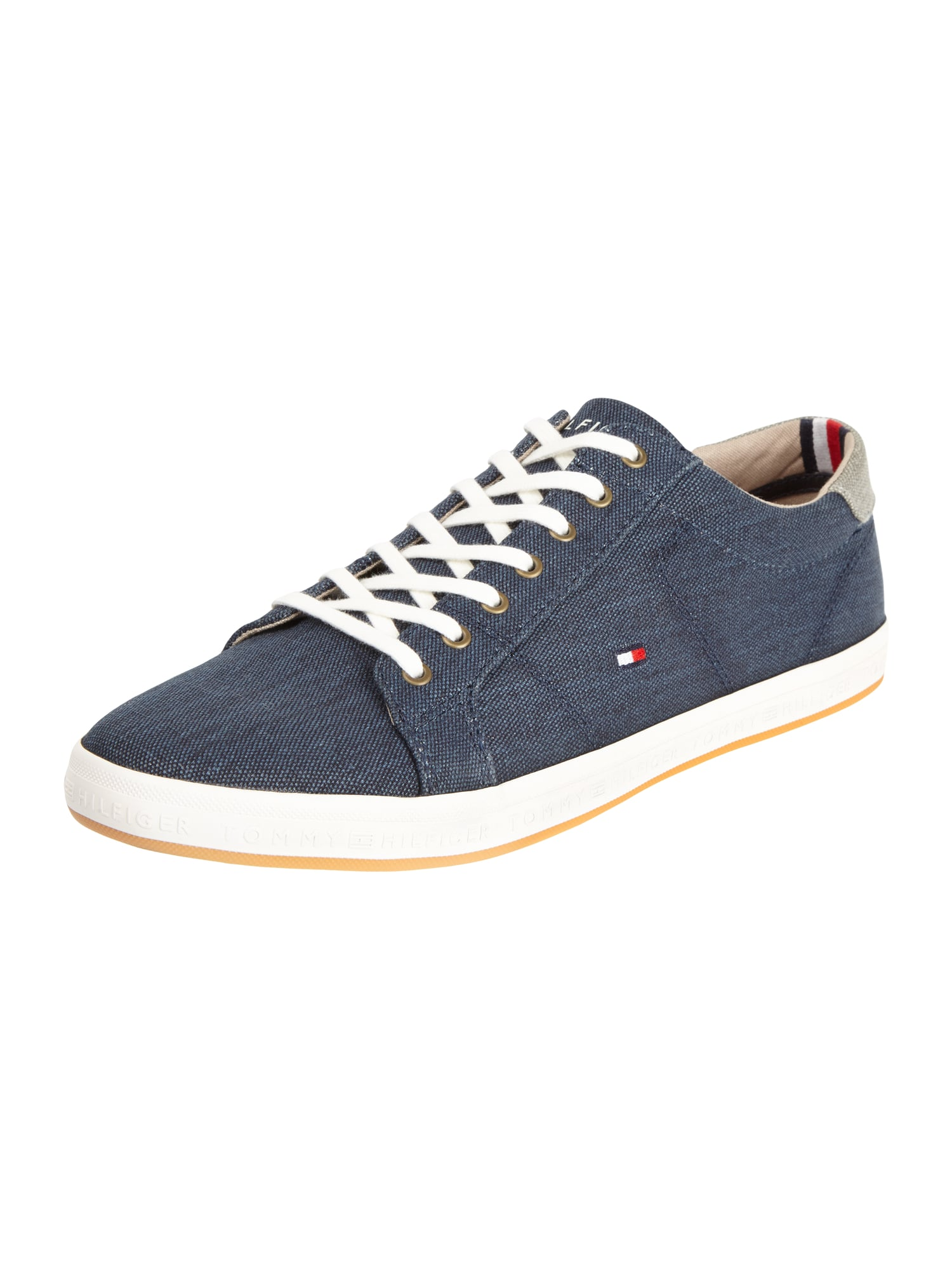 tommy hilfiger sneaker aus canvas in blau t rkis online. Black Bedroom Furniture Sets. Home Design Ideas