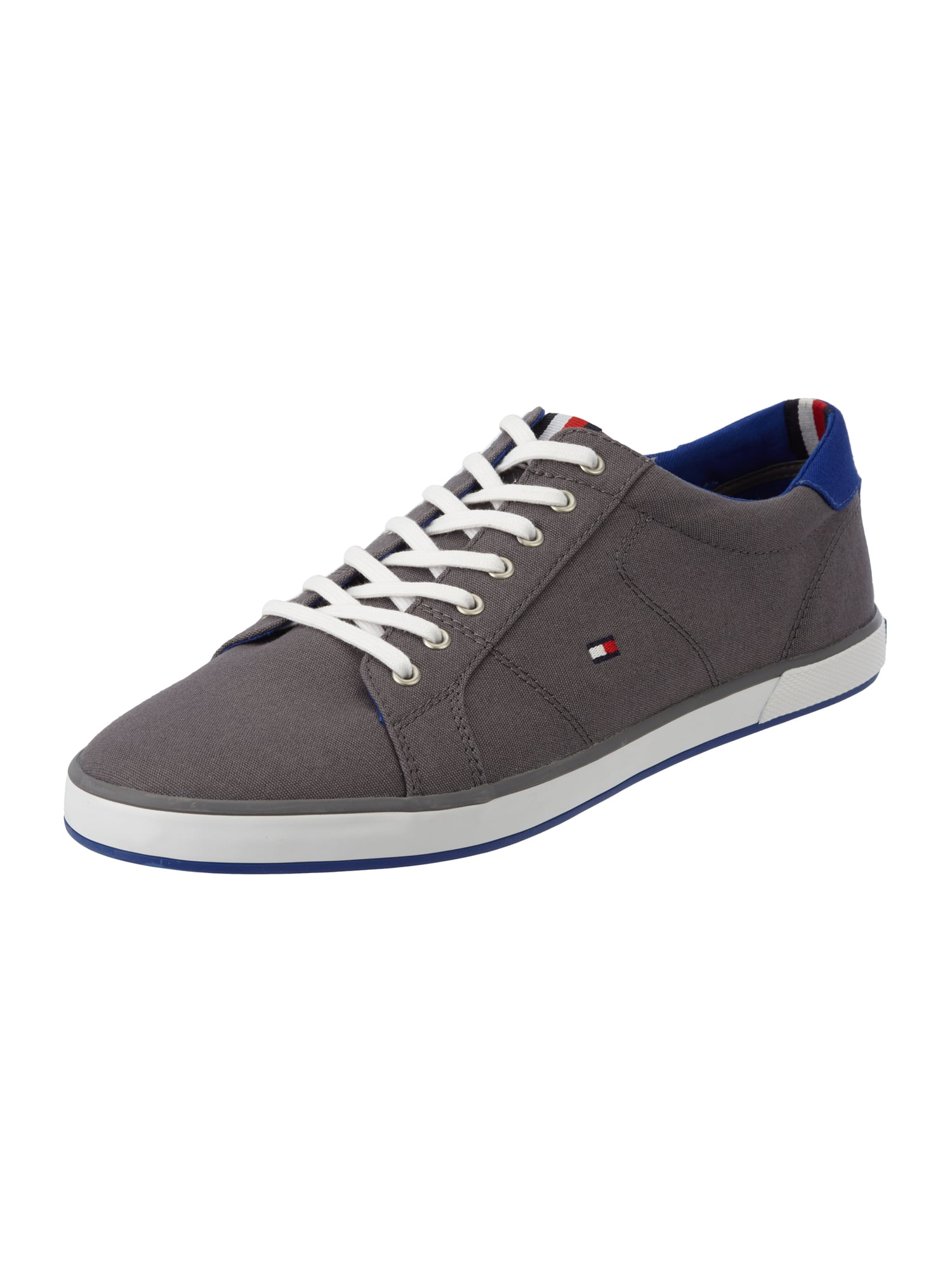 tommy hilfiger sneaker aus canvas in grau schwarz online. Black Bedroom Furniture Sets. Home Design Ideas