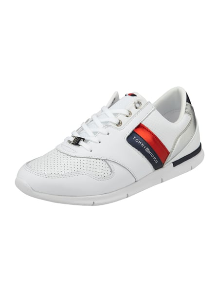 tommy hilfiger sneaker aus leder mit details in. Black Bedroom Furniture Sets. Home Design Ideas