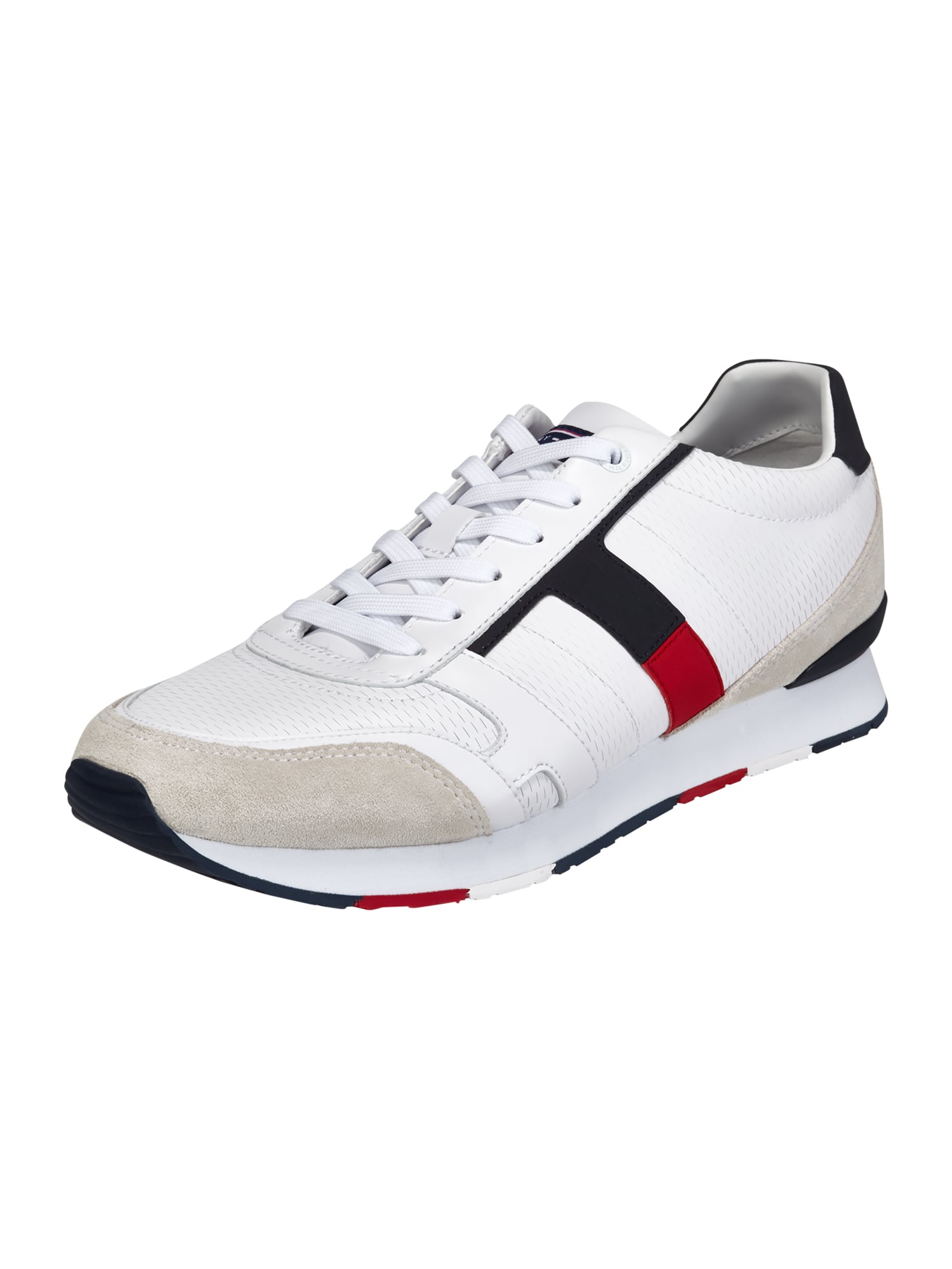 tommy hilfiger sneaker aus leder in wei online kaufen. Black Bedroom Furniture Sets. Home Design Ideas