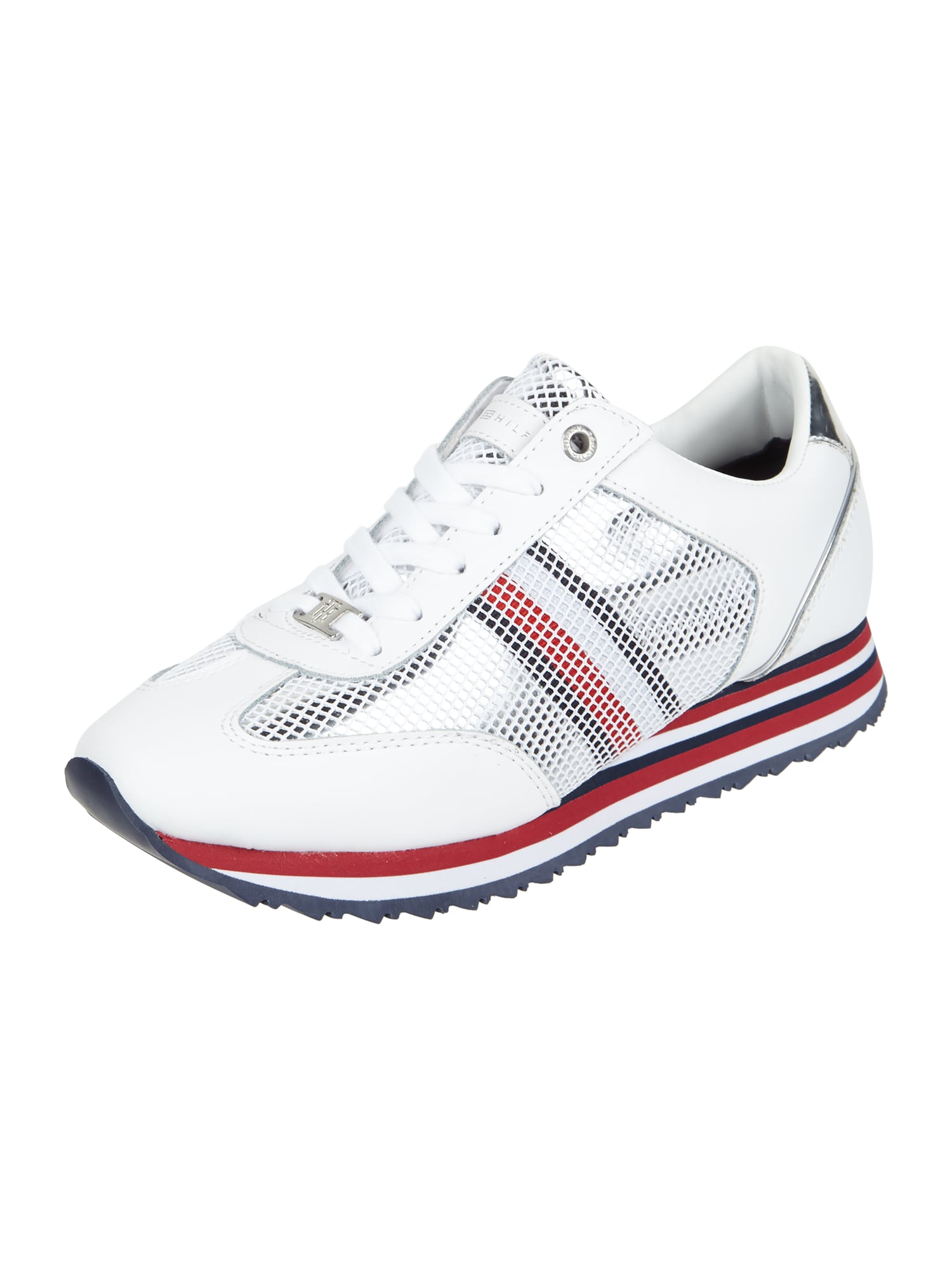 tommy hilfiger sneaker 39 corporate flag 39 mit meshbesatz in. Black Bedroom Furniture Sets. Home Design Ideas
